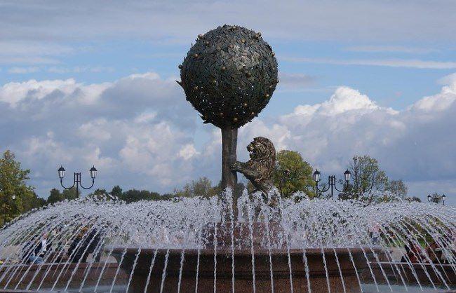 Orange Fountain in Lomonosov, Leningrad region, Russia