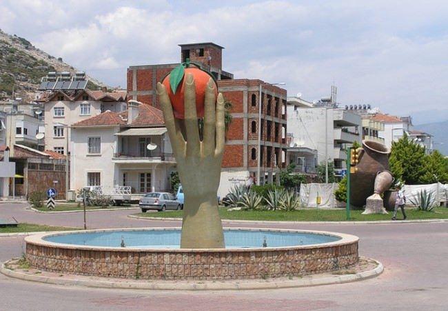 Orange Monument in Finike, Turkey