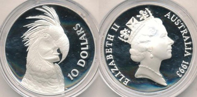 Parrot on the coin