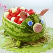 Piggy bank watermelon
