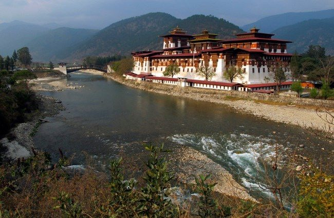 Punakha Dzong, one of the largest buildings in Bhutan, March 13, 2011. ReutersMichael Smith