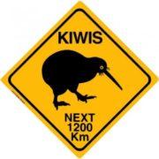 Road sign Kiwi crossing