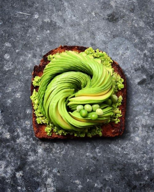Sandwich with fresh avocado