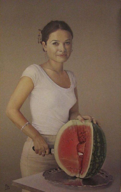 Sergey Torop. Sonia with a watermelon. 2006