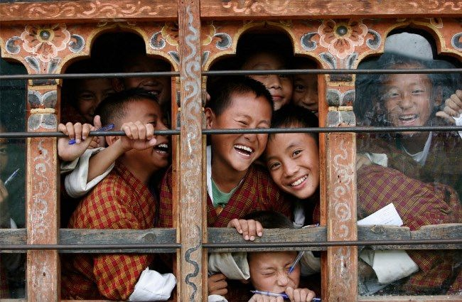 Smiling students at school in Thimphu, September 22, 2010. ReutersSingye Wangchuk