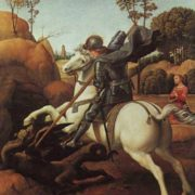 St. George and the Dragon (1504). Raphael
