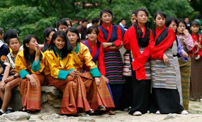 Students rehearse their performance before the annual concert in Thimphu, August 15, 2009. ReutersSingye Wangchuk