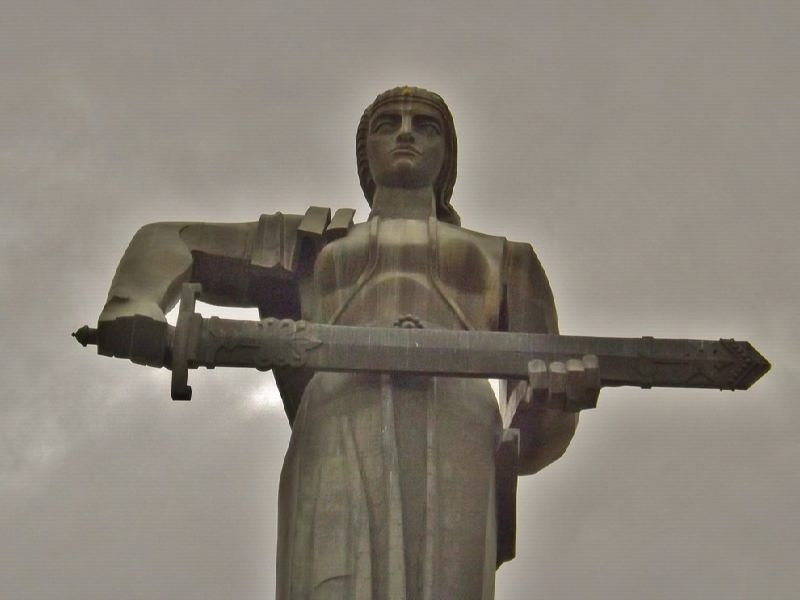 The Mother-Armenia monument was erected in Yerevan in honor of the victory of the Soviet Union in the Great Patriotic War