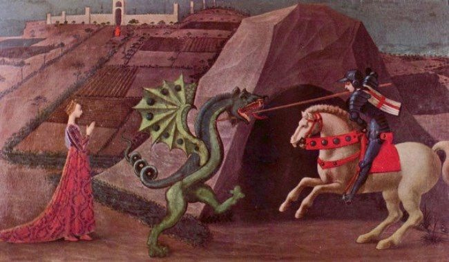 The Princess and the Dragon (1470) - Paolo Uccello