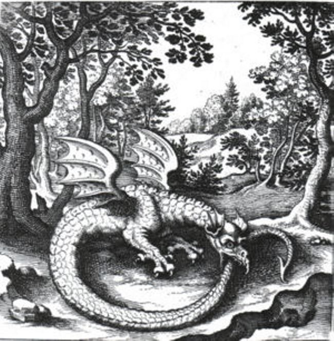 The engraving by Lucas Jennis in the alchemical treatise De Lapide Philisophico