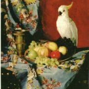 Tretyakov Nikolai. Still-life with a parrot, 1883