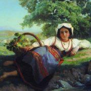 Vasily Vereshchagin. Girl with grapes, 1865