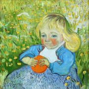 Vincent Van Gogh. Child with orange. 1890