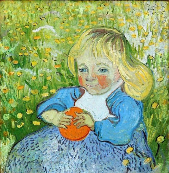 Vincent Van Gogh. Child with orange. 1890