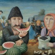 Vladimir Lyubarov. Mtsyri with watermelon, 1999