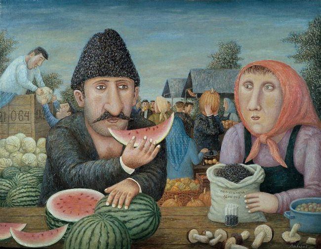 Vladimir Lyubarov. Mtsyri with watermelon, 1999