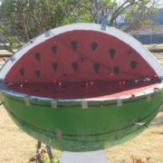 Watermelon monument in Dilley, Texas, USA