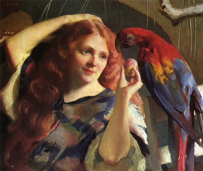 William MacGregor. Paxton Reddy and the Macaw, 1918