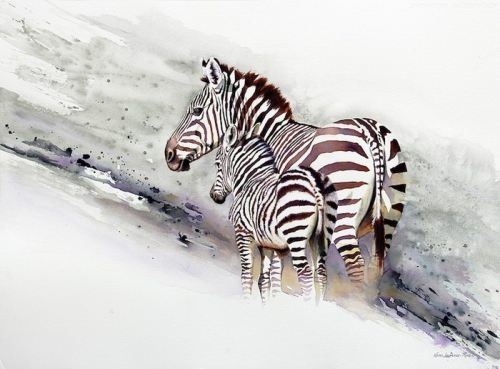 Zebras by Karen Laurence-Rowe