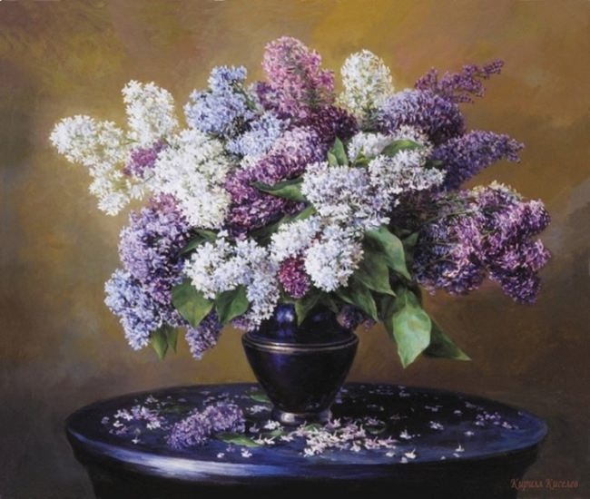 A bouquet of lilac. Kirill Valentinovich Kiselev