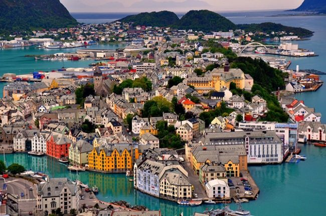 Alesund on the west coast of Norway