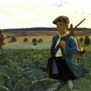 Alphonse Gaudefroy. De Retour de la Chasse. 1889
