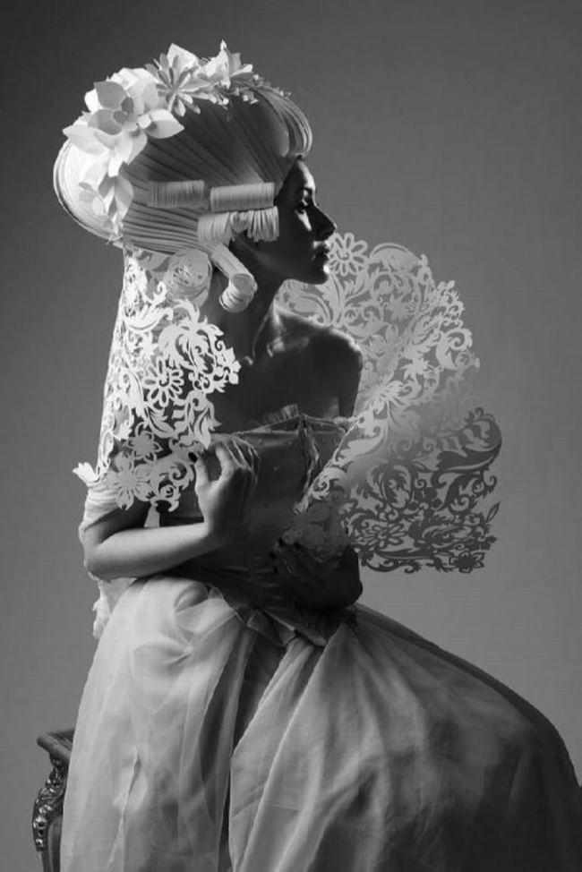 Amazing paper wig by Asya Kozina