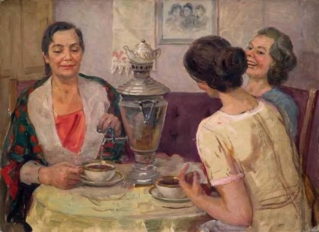 Anatoly Treskin. At the samovar. 1930's