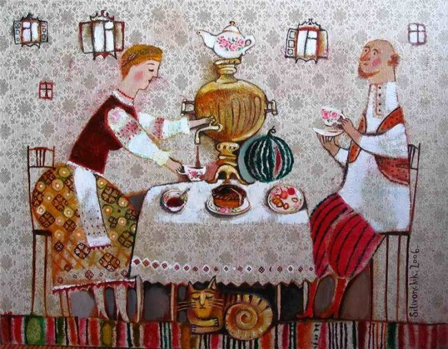 Anna Silivonchik. Tea drinking