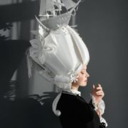 Attractive paper wig by Asya Kozina
