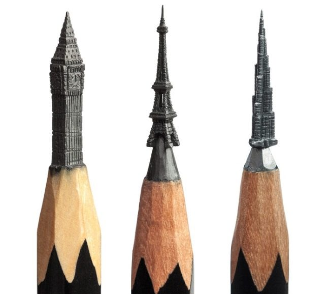 Attractive pencil carving by Salavat Fidai