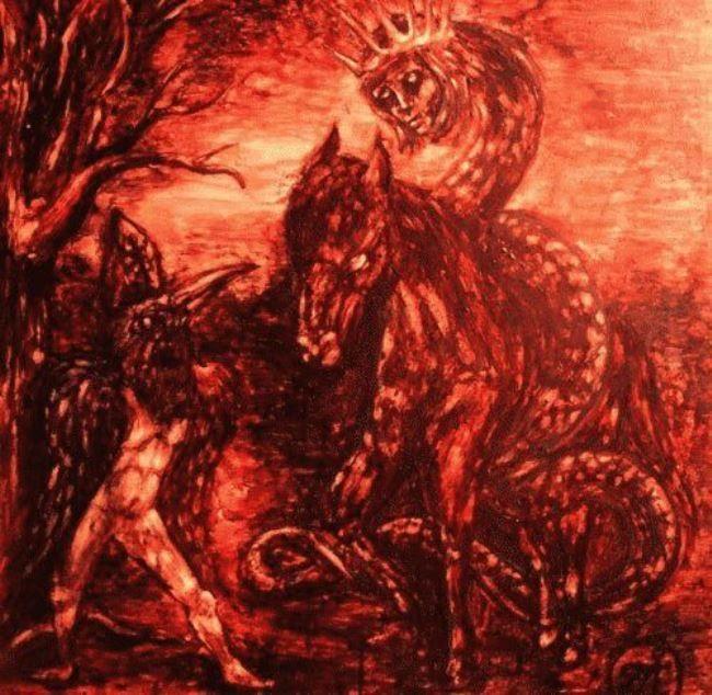 Bloody picture by Nikolai Ustyantsev