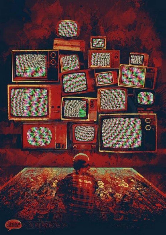 Bloody pop art by Vinicius Quesada