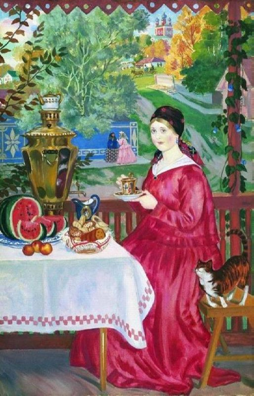 Boris Kustodiev. Merchant on the balcony