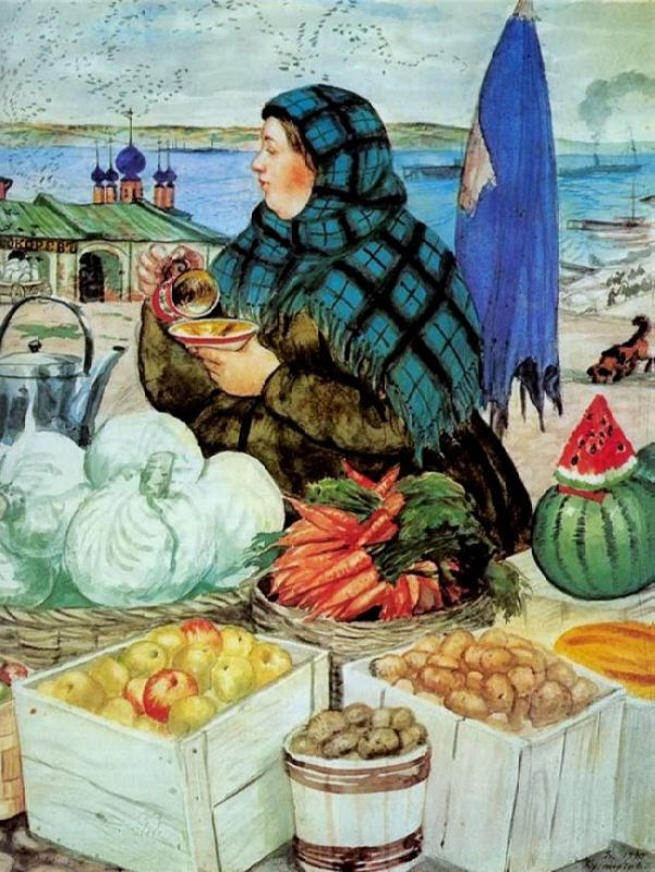 Boris Kustodiev. Vegetables, 1920