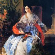 Bryullov, Karl Pavlovich. Portrait of Princess Elizabeth Pavlovna Saltykova. 1841