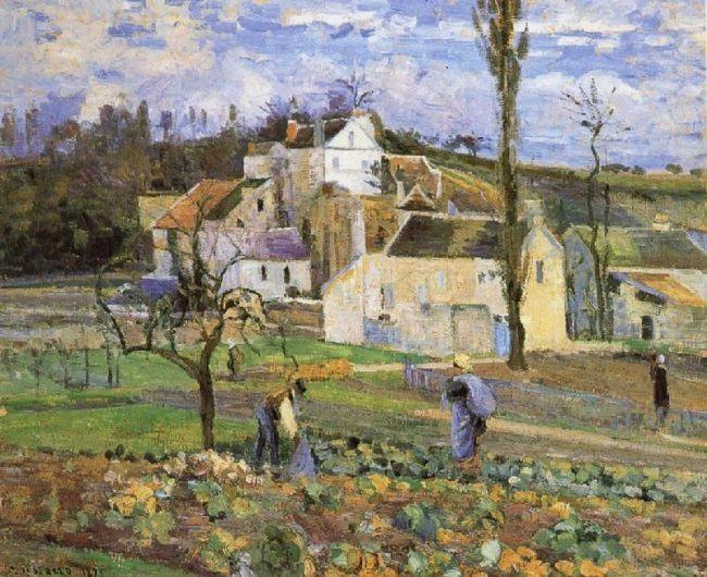 Camille Pissarro. Cabbage Harvest