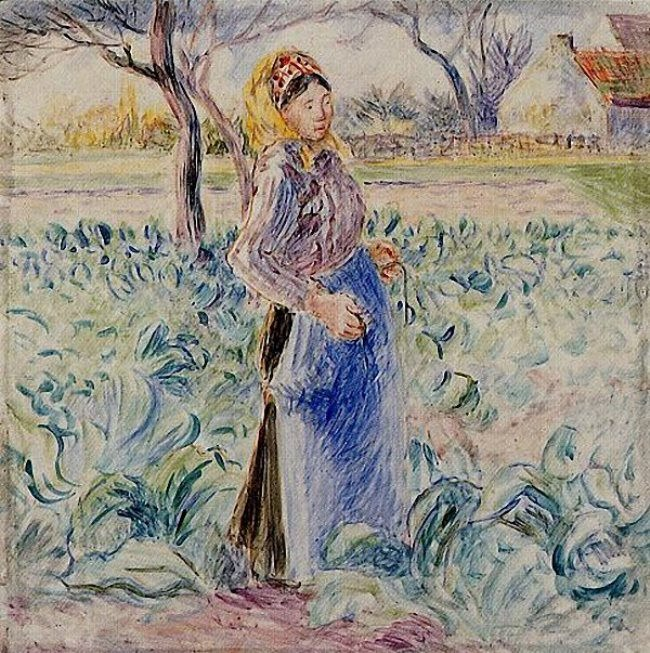 Camille Pissarro. Peasant Woman in a Cabbage Patch