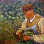 Camille Pissarro. The Gardener. Old Peasant with Cabbage. 1883-95