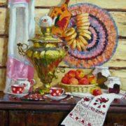 Daria Timoshkina. Samovar with apples