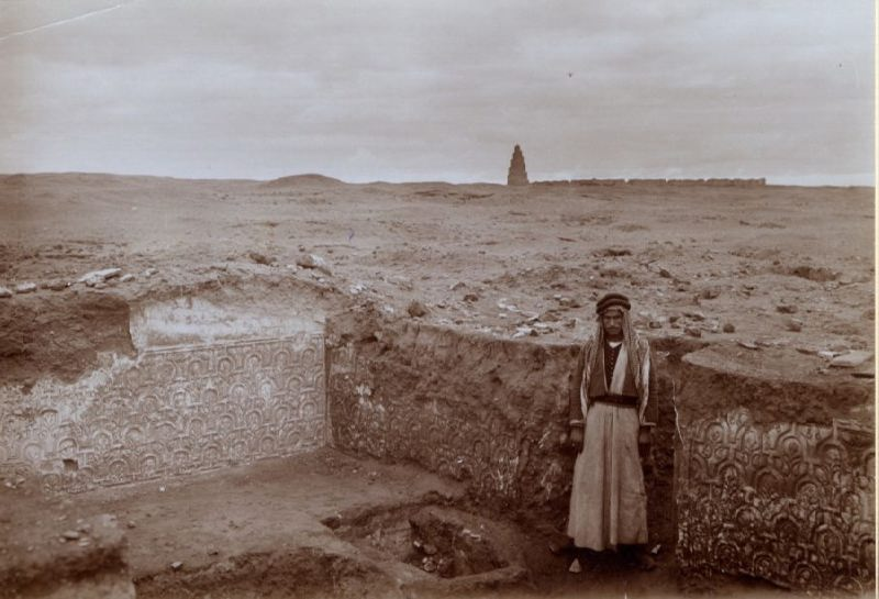 Excavations of the palace of the Caliphs in Samarra