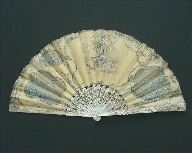 Folding fan, France, 1895-1900