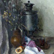 G. Shishkin. Still-life with a samovar, 1988