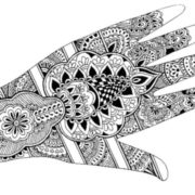 Graceful mehndi design