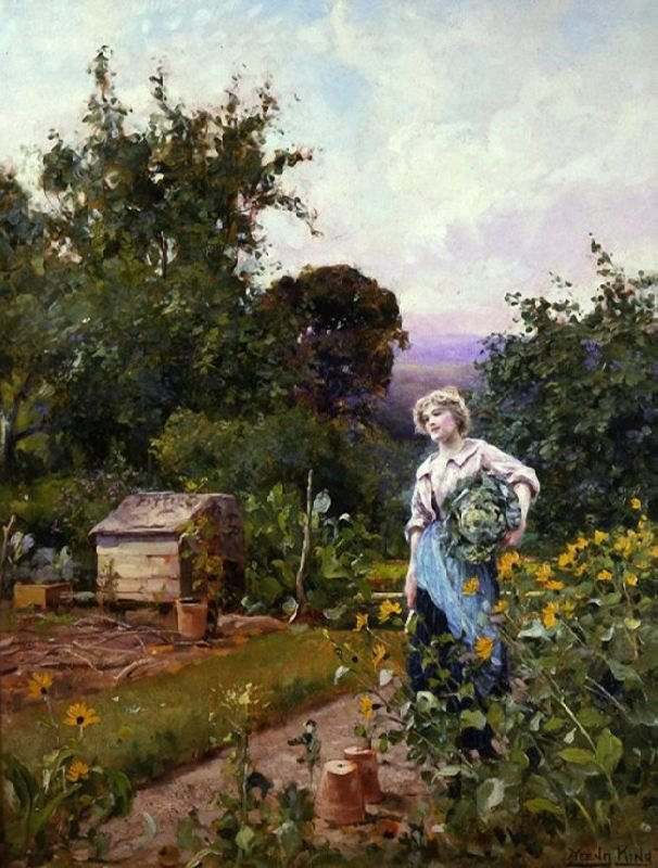 Henry John Yeend King. Cabbage Gatherer