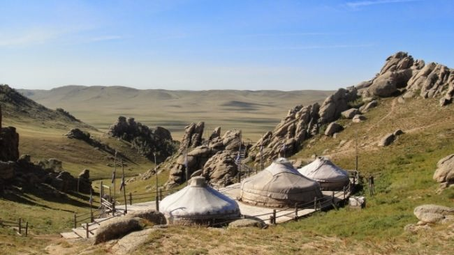Historical complex Mongolia of the 13th century - an open-air museum