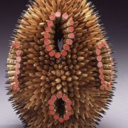 Interesting sculpture of pencils by Jen Maestre