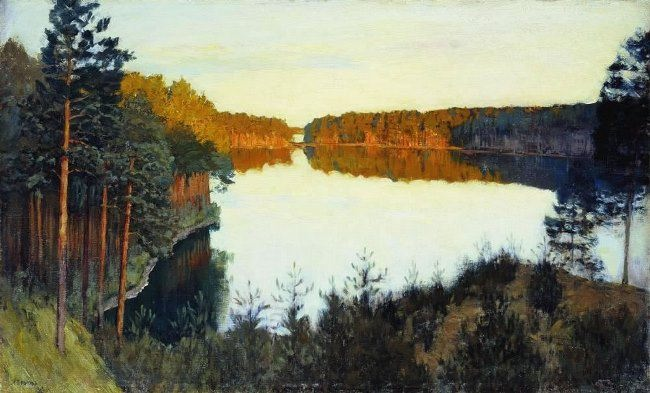 Isaak Ilich Levitan. Forest Lake
