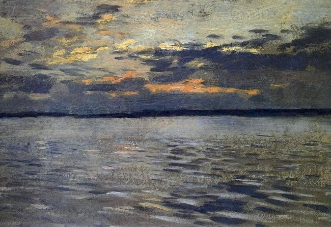 Isaak Ilich Levitan. Lake in the evening