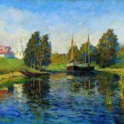 Isaak Ilich Levitan. Lake. Autumn
